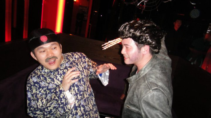 Wolverine vs. Pussy Chinese Dude (on Halloween)